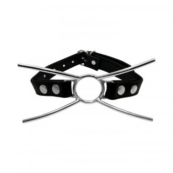 Mundsperrer Spider Mundknebel Mouth Gag mit O-Ring Leder Knebel (BS-7503)